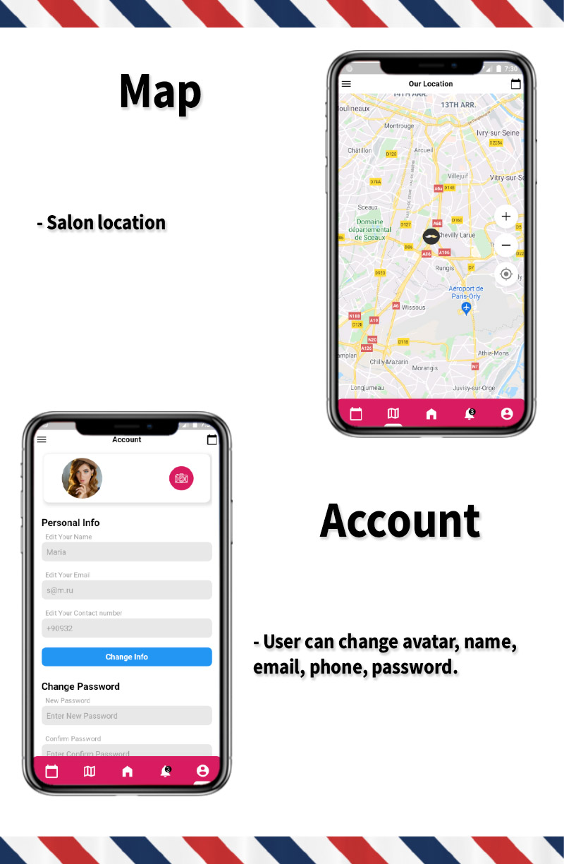 Single Barbershop, Salon Booking App - Full Flutter Application with Admin Panel (Android+iOS) - 5