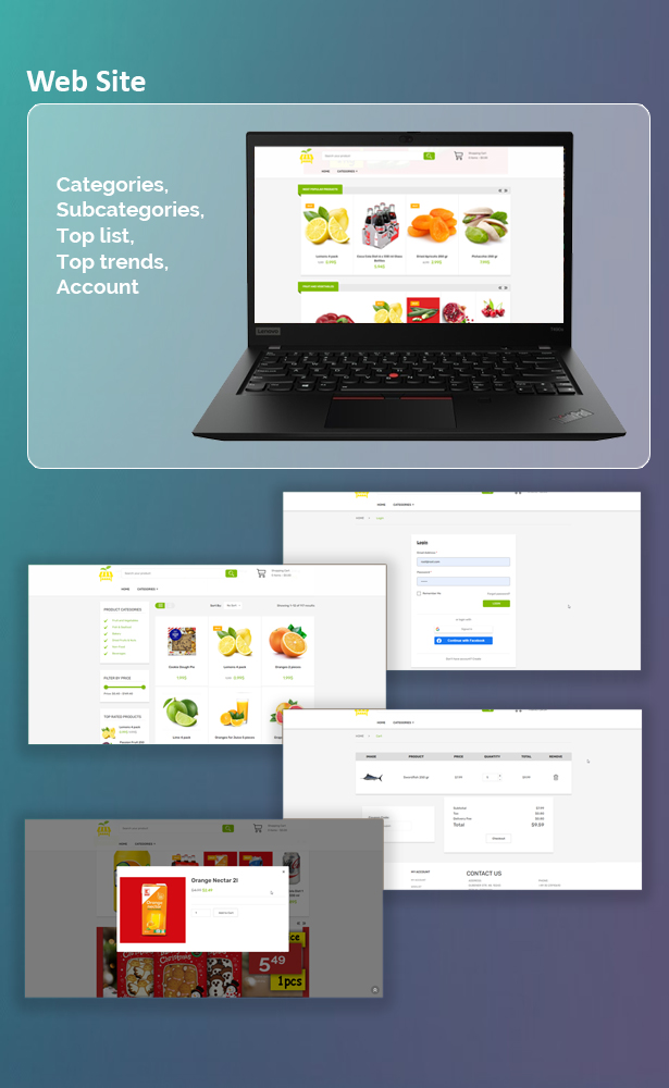 Single Market Grocery/Food/Pharmacy (Android+iOS+Admin Panel) Full App Solution with Web Site - 2