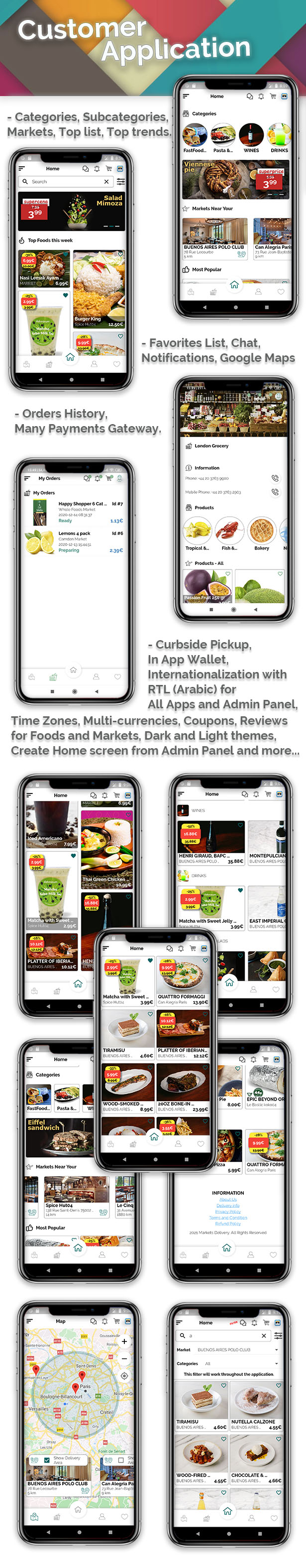 Grocery, Food, Pharmacy, Store Delivery Mobile App with Admin Panel - 1